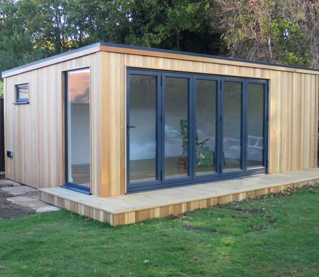 6m x 4m cube garden room