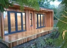 8m x 4m concave contemporary garden room