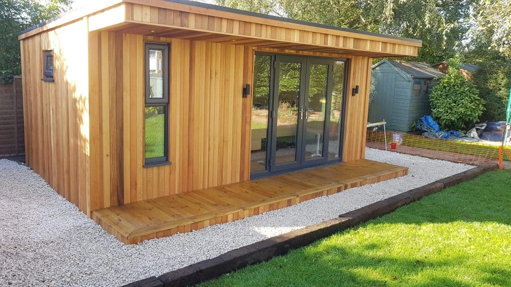 Bi-fold doors provide ventilation