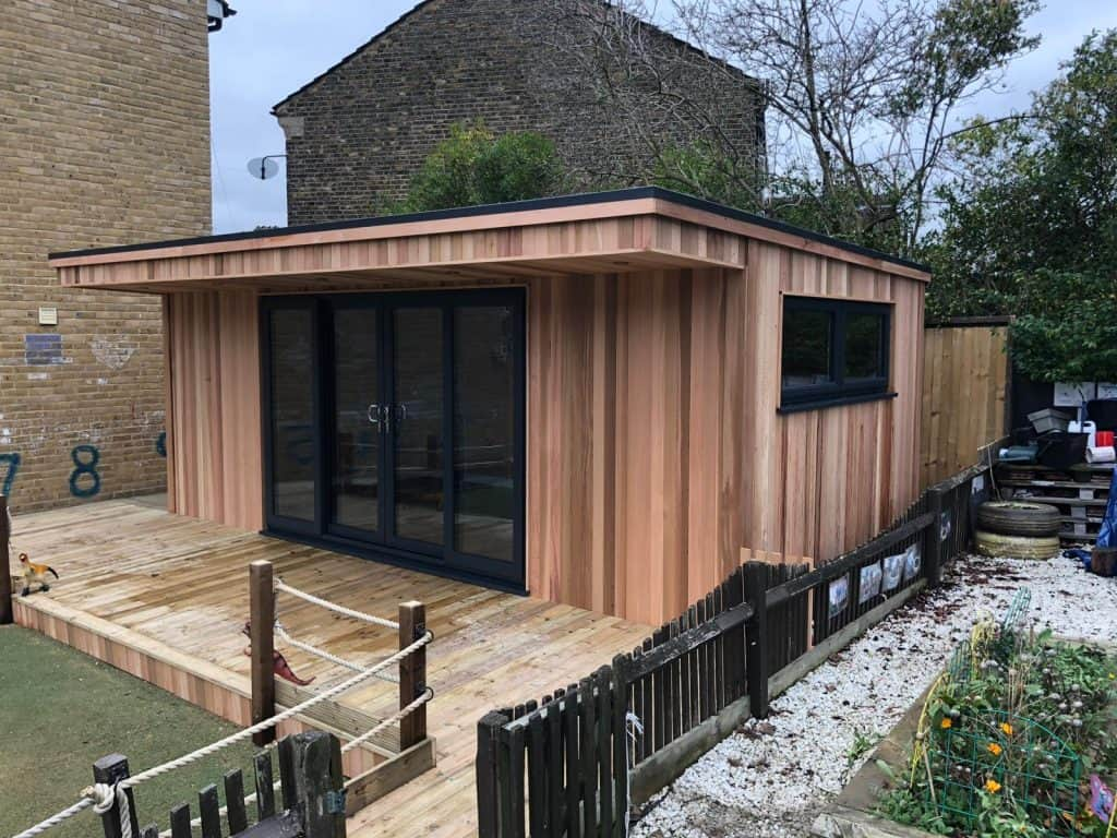 Side view - Garden Nursery case study from Modern Garden Rooms