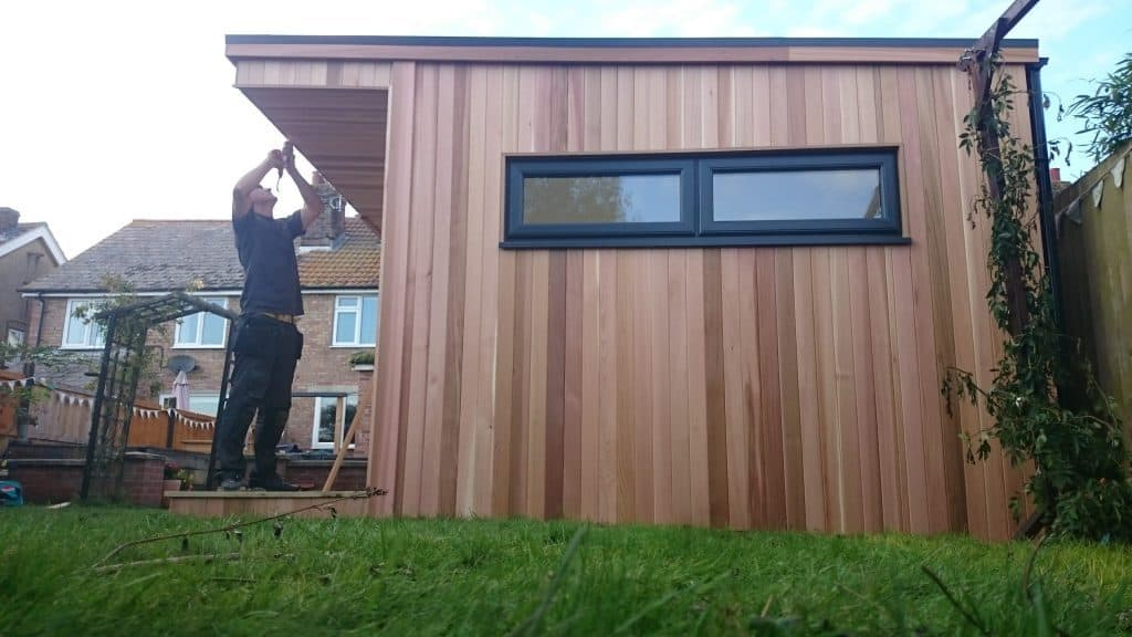 Finishing touches to insulated garden room uk