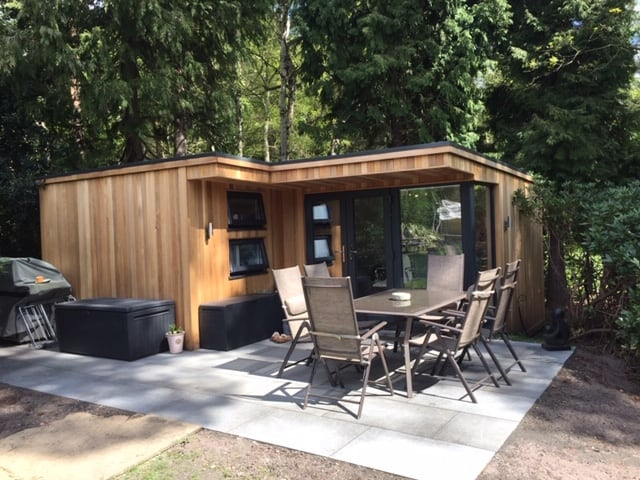 Jonny's temporary living space was a 6m by 6m bespoke garden room