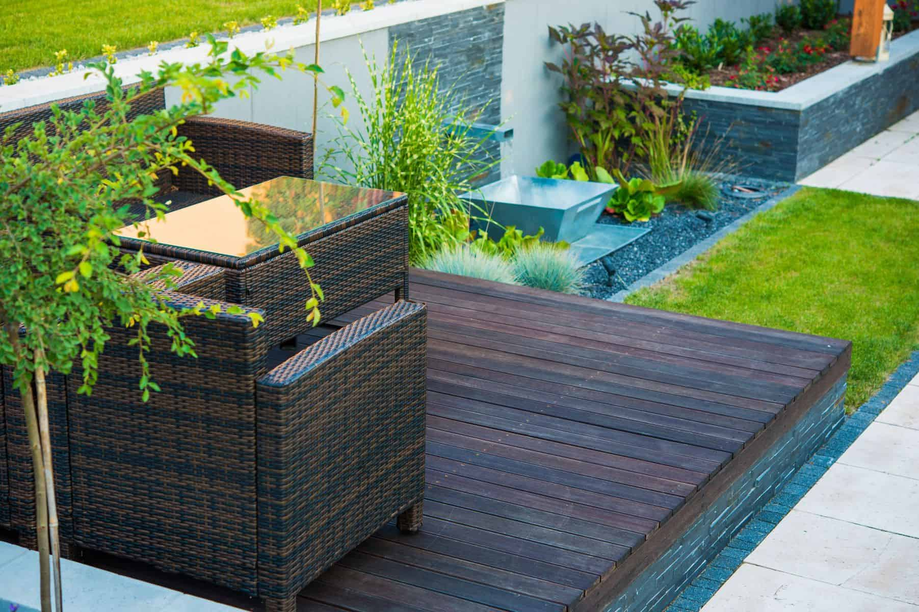Decking/patio area - best use of garden spaces