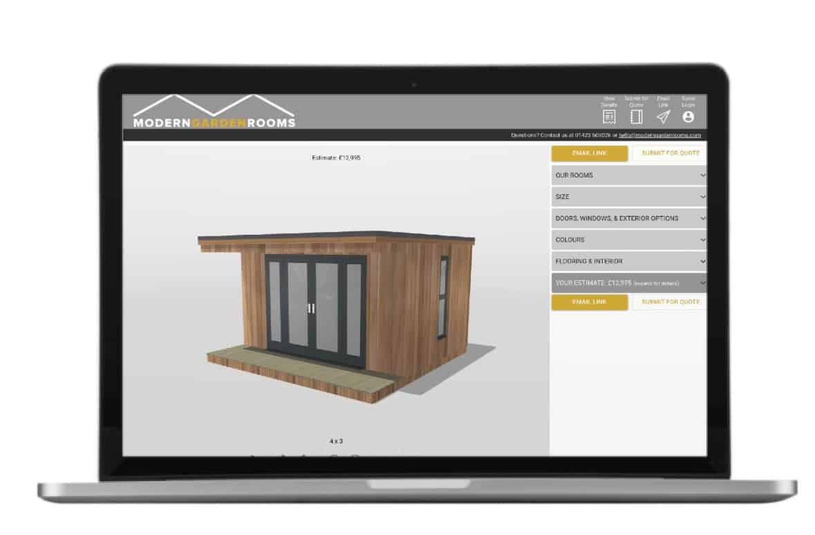 Bespoke garden room software for design and build