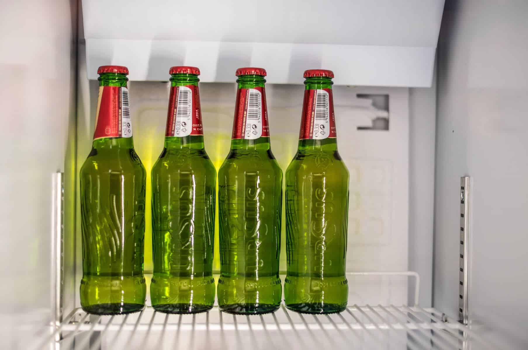 garden man cave - alcohol fridge