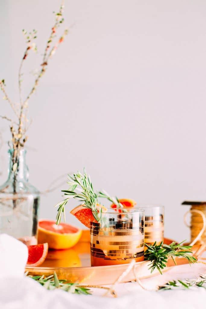 gin in a wooden garden bar