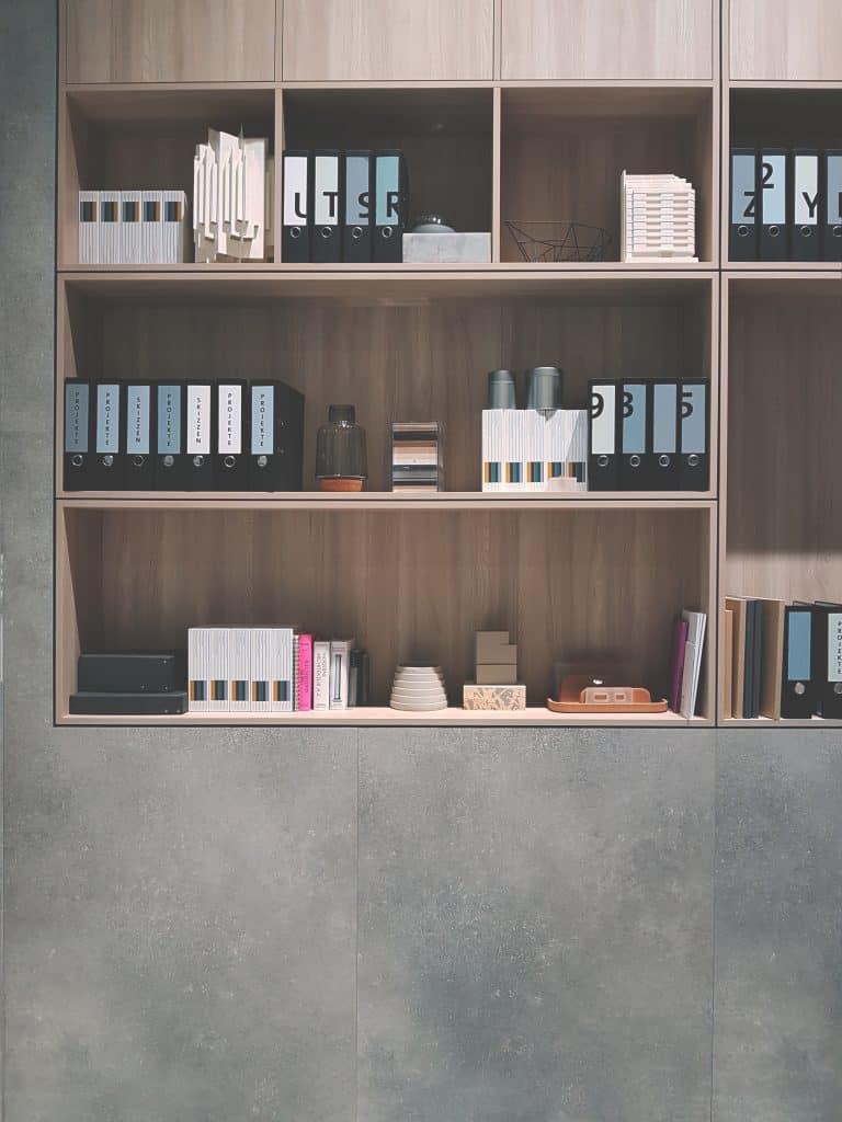 shelves in shed room