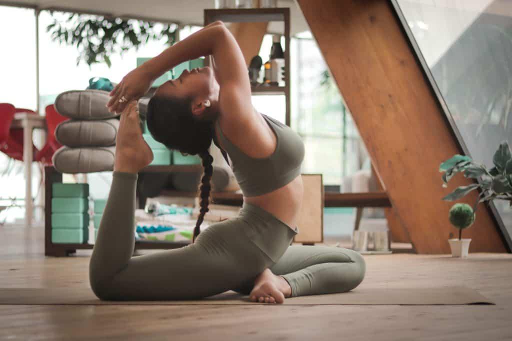 small garden room yoga studio