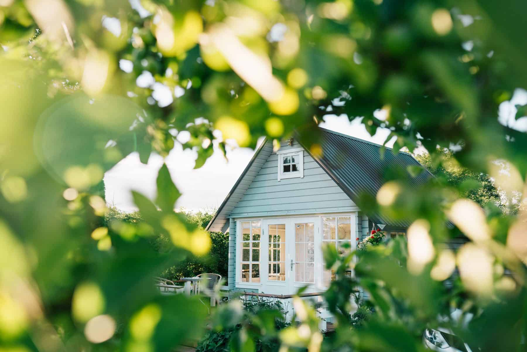 painted summer house